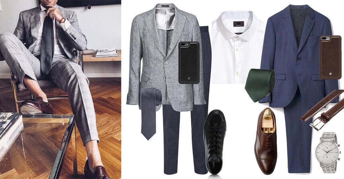 Tips  vid klädkod kostym är blått en bra färg för den som vill vara mer  välklädd och mindre strikt. Nedan ger vi förslag på två looks  Business  Casual och ... 11df98501b8bc